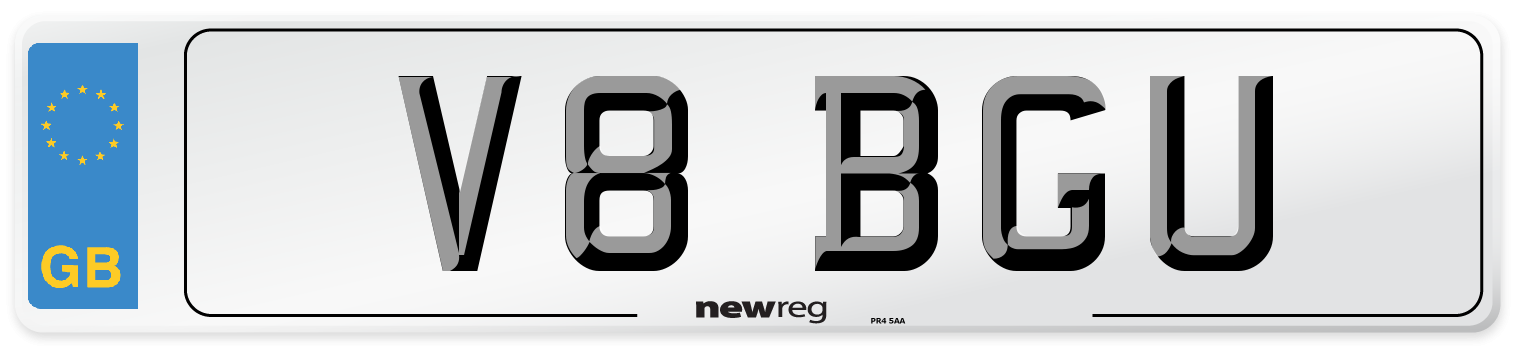V8 BGU Number Plate from New Reg